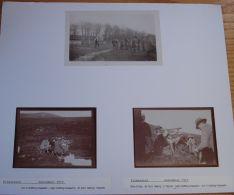 3 FINE PHOTOS OF A SHOOTING PARTY KILMARNOCK 1910 EARL BEATTY GODFREY FAUSSETT - Fotos