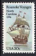 USA 1984 400th Anniversary Of 1st Raleigh Expedition, Ship, MNH (SG 2090) - Ongebruikt