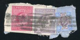 GB LONDON KING EDWARD 7TH HIGH VALUE PERFINS - 1902-1951 (Kings)