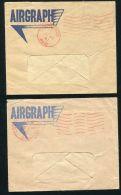 GREAT BRITAIN AIR GRAPH STATIONERY DOUBLE POSTMARKS WORLD WAR TWO - Gran Bretaña