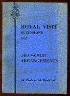 HM QUEEN  ELIZABETH ROYAL VISIT QUEENSLAND 1963 CRICKET - Non Classés