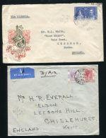 HONG KONG KING GEORGE 6TH AIRMAILS AND CORONATION - Hong Kong (...-1997)