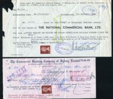 HONG KONG GB FISCALS CHEQUES QUEEN ELIZABETH 1967/68 - Hong Kong (...-1997)