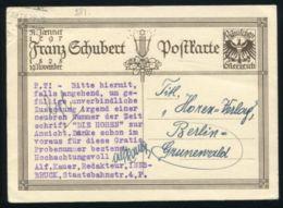 AUSTRIA MUSIC SCHUBERT POSTAL STATIONERY 1929 - 1918-1945 1st Republic