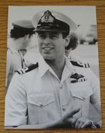 FINE ORIGINAL PRESS PHOTO PRINCE ANDREW IN NAVY UNIFORM SAN DIEGO USA 1984 - Other Collections