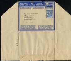BASUTOLAND AIR LETTERS STATIONERY OVERPRINT GEORGE SIXTH 1954 - Basutoland (1933-1966)