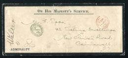 GB OHMS QUEEN VICTORIA GREENWICH HOSPITAL ADMIRALTY ANCHOR COVER - 1840-1901 (Victoria)