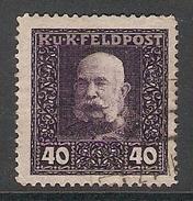 003911 Austria Military Post 1915 40h FU - Usati