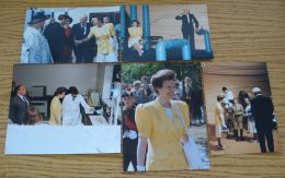 FIVE FINE ORIGINAL PRESS PHOTOS PRINCESS ANNE WHITTLE DEAN NORTHUMBERLAND 1992 - Other Collections