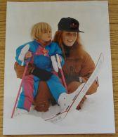 FINE ORIGINAL PRESS PHOTO DUCHESS OF YORK PRINCESS BEATRICE SKI AUSTRIA 1991 - Famous People
