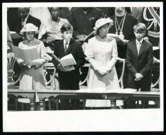 PRESS PHOTO JUBILEE PRINCESS MARGARET CHILDREN PRINCE EDWARD 1977 ST. PAUL'S - Other Collections