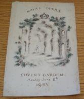 RARE ROYAL OPERA HOUSE COVENT GARDEN PROGRAMME CORONATION 1953 QUEEN EII - Unclassified