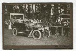 CABINET PHOTO OF SAXE-WEIMAR FAMILY MOTOR CAR 1910 E. SHULTZE HEIDELBERG - Photographs