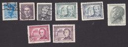 Czechoslovakia, Scott #377-379, 386-390, Used, Writers, Smetana, Pushkin, Chopin, Issued, 1949