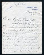 FINE ORIGINAL LETTER PRINCESS HELENA VICTORIA LORD DAWSON PHYSICIAN KING - Historical Documents