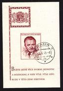 Czechoslovakia, Scott #367, Used, Pres. Klement Gottwald, Issued, 1948