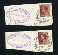 GREAT BRITAIN EDWARD EIGTH PAQUEBOT MARITIME ALMEDA STAR 1937 - Zonder Classificatie