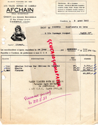 59- CAMBRAI- FACTURE AUX VRAIES BETISES DE CAMBRAI-AFCHAIN INVENTEUR- CHAVY-27 RUE LASACE LORRAINE-M. COIFFIN PARIS-1951 - Alimentaire