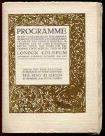 LONDON COLISEUM GEORGE 5th SARAH BERNHARDT 1913 - Livres, BD, Revues