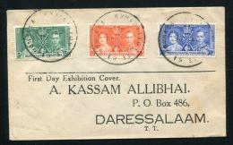 KENYA 1937 CORONATION EXHIBITION SKELETON POSTMARK - Kenya, Uganda & Tanganyika