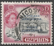 Cyprus. 1960-61 Republic Overprint. 30m Used. SG 195 - Cyprus (Republic)
