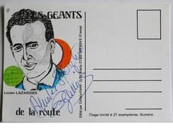 Cyclisme - Lucien LAZARIDES - Signé De - Dédicace - Hand Signed - Autographe Authentique  - - Cyclisme