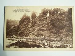 Cp T24  LA CORREZE Ruines Du Chateau De Merle Vue Prise Des Bords De La Maronne - Autres Communes