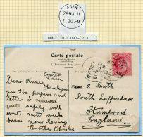ADEN KE7 POSTCARD ADEN CAMP 1919 - Aden (1854-1963)