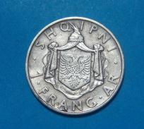 ALBANIA - ITALIA 1 FRANG AR 1937, SILVER, UNCLEABED, - Albania