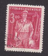 Czechoslovakia, Scott #395, Used, Miner, Issued, 1949
