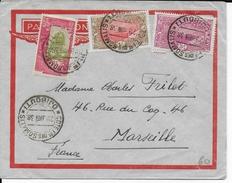 COTE DES SOMALIS - 1938 - LETTRE Par AVION De DJIBOUTI  => MARSEILLE - Côte Française Des Somalis (1894-1967)