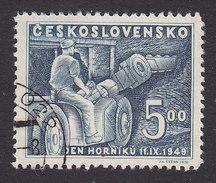 Czechoslovakia, Scott #396, Used, Mining Machine, Issued, 1949