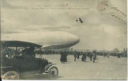 Lunéville,Le Zeppelin A Lunéville 1913,le Petit Oiseau De France Survolant Le Kolossal Aigle Allemand - Luneville