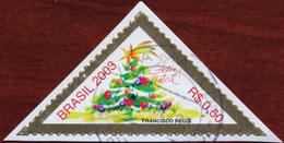 FREE POSTAGE!! Brazil Brasil 2003 Christmas, Religion, Weihnachten, Triangular, Kerstmis, Noel, 1v, Used, Gestempelt, Vg - Christmas