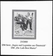 """Austria/Autriche: Prova Per La Stampa, Proof For Printing, épreuve Pour L'impression, """"Supplizio Della Pagnotta"""", Pain T - Fiabe, Racconti Popolari & Leggende"""
