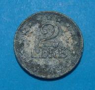 ALBANIA  2 LEKE 1947 RARE - Albania