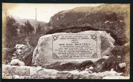 FINE ORIGINAL ANTIQUE PHOTO MEMORIAL STONE QUEEN VICTORIA VISIT SCOTLAND 1877 - Unclassified