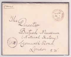 SANDRINGHAM OFFICIAL PAID STAMP WITH KING EDWARD VII CYPHER BRITISH MUSEUM 09 - Unclassified