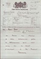 QUEEN VICTORIA TELEGRAM VISIT PARIS PONSONBY 1899 - Historical Documents