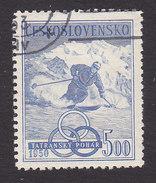 Czechoslovakia, Scott #403, Used, Skier, Issued, 1950