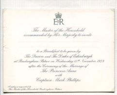 THREE ORIGINAL INVITATIONS: MARRIAGE BREAKFAST & RECEPTION MARRIAGE PRINCESS - Andere Verzamelingen