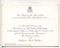 THREE ORIGINAL INVITATIONS: MARRIAGE BREAKFAST & RECEPTION MARRIAGE PRINCESS - Historical Documents