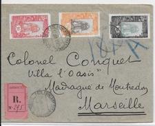 COTE DES SOMALIS - 1922 - LETTRE RECOMMANDEE De DJIBOUTI  => MARSEILLE - Lettres & Documents