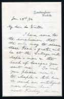 KING GEORGE 5TH 1893 AUTOGRAPH LETTER SANDRINGHAM - Other Collections