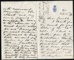 RARE LETTER PRINCE ARTHUR DUKE OF CONNAUGHT FROM POONA INDIA ADEN - Other Collections