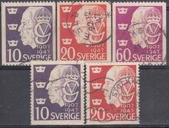 SUECIA 1947 Nº 330/32 + 330a/31a USADO - Used Stamps