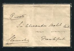 FINE ORIGINAL AUTOGRAPHED ENVELOPE 4TH EARL CLARENDON F.O. MINISTER SIR A. MALET - Autographs