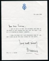 CONDOLENCE LETTER & ENVELOPE HAND SIGNED AUTOGRAPH PRINCE CHARLES OF WALES - Other Collections
