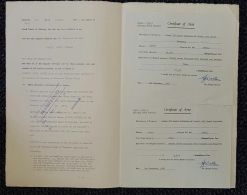 SOUTHERN RHODESIA REVENUES 1956/57 GWELO IMPORTANT SIGNATURE - Great Britain (former Colonies & Protectorates)