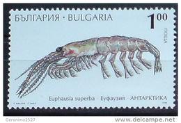 BULGARIA 1995 FAUNA Antarctic Animals SHRIMP - Fine Stamp MNH